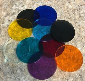 Color-Acrylic-Disks-Circles-TRANSPARENT-Assorted-sizes-and-colors