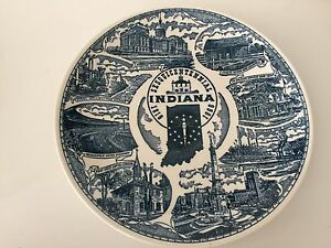 VTG Kilns Indiana Sesquicentennial State Plate, 1818-1966, Hooper Advertising
