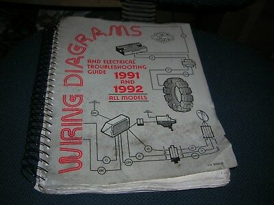 Harley Davidson 1991 And 1992 Wiring Diagrams Part 99948 92 Ebay