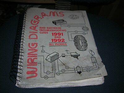 Harley Davidson 1991 And 1992 Wiring Diagrams Part 99948 92 Ebay