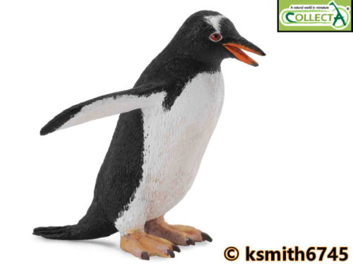nouveau CollectA Gentoo Penguin solide Jouet en plastique Wild Zoo Arctic Sea Animal