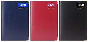 2020-A6-semana-para-ver-tamano-pequeno-bolsillo-diario-Borde-Dorado-Metal-esquinas-diario-UK