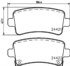 MDB2867 MINTEX Brake Pad Set disc brake rear