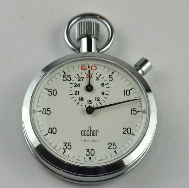VINTAGE CHRONOMETER STOPWATCH STOPWATCH STOPWATCH CODHOR ANTICHOC PERFECT WORKING 2c6a63