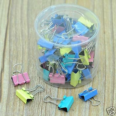 60x Metall Binder Clips für File Paper Notebook Organizer School Office Supply ^