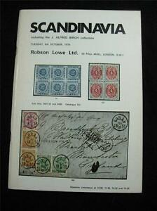 ROBSON-LOWE-AUCTION-CATALOGUE-1970-SCANDINAVIA-039-BIRCH-039-COLLECTION