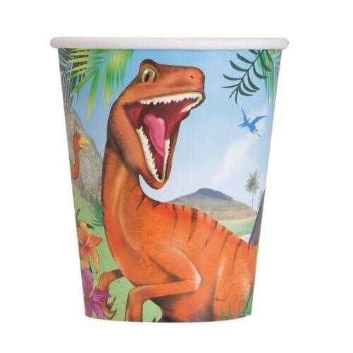 invite Dinosaure Jungle Fêtes Fournitures Vaisselle sacs Ballons décorations