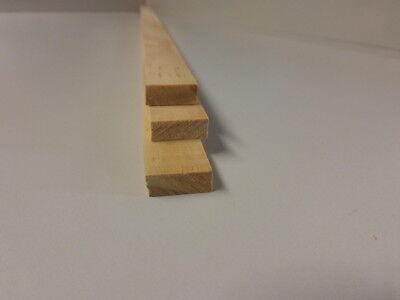 (b180) 1stk 100cm Rechteckleiste Kiefer 7x18mm Knitterfestigkeit