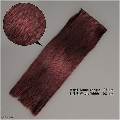 Dollmore SM108 OOAK BJD Synthetic String Hair Mohair straight : C Pink
