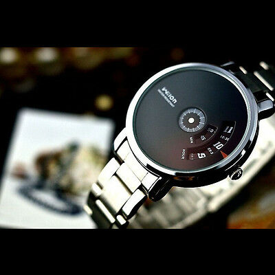 Fashion Creative Stainless Steel Men's Military Sport Analog Quartz Wrist Watch