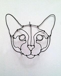sculpture-tete-de-chat-en-fil-de-fer-3d-decoration-murale-relief-wire-cat-head
