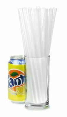 60x JUMBO CLEAR STRAWS Straw Milkshake Smoothie Drinks Cocktail Slush Summer BBQ