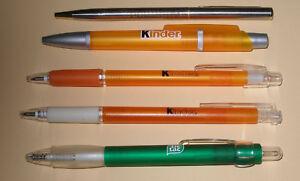 5 unterschiedliche Kugelschreiber von Ferrero