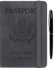 Passport Holder Cover Case RFID Blocking Travel Wallet Card Case