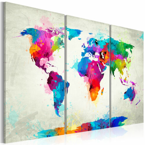 World Map Pinboard Cork Board Canvas Print Wall Art Picture Home k-A-0070-p-f
