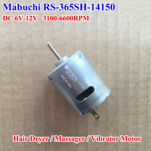 MABUCHI RS-365SH DC 6V-12V 6600RPM Mini Carbon Brush Motor Hair Dryer DIY Parts
