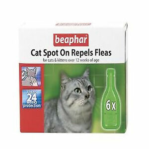 Flea-Drops-For-Cats-Spot-On-Beaphar-6-x-Treatment-Pack-24-Weeks-Protection