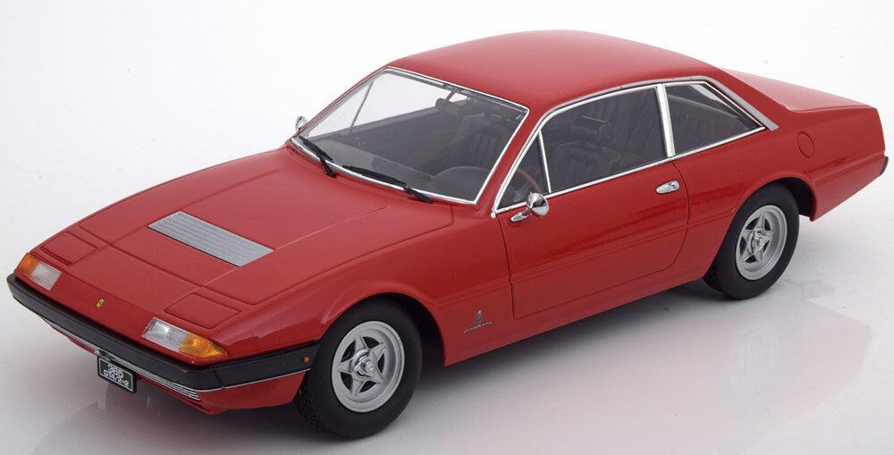 KK SCALE MODELS 1972 Ferrari 365 GT4 2+2 rosso le de escala 1000 1 18 nuevo en la acción