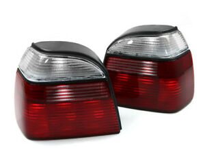 Clear-Red-Euro-Factory-Style-Replacement-Taillights-for-93-99-VW-MK3-Golf-GTI