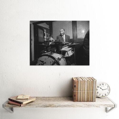 VINTAGE PHOTO JAZZ MUSIC DRUMMER LEGEND FREDDIE MOORE POSTER ART PRINT BB12316B