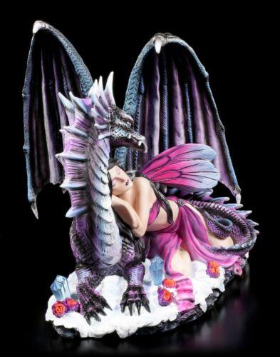 Fuertes Colores Estatua Hadas Grande Figura Elfos /& Dragón Soraya Durmiendo