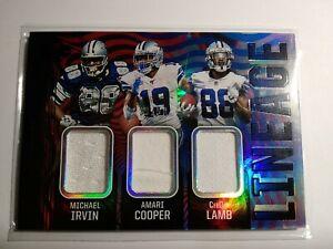 2020 Illusions Lineage Irvin Cooper CeeDee Lamb /50 Patch Card No. L6 Dallas