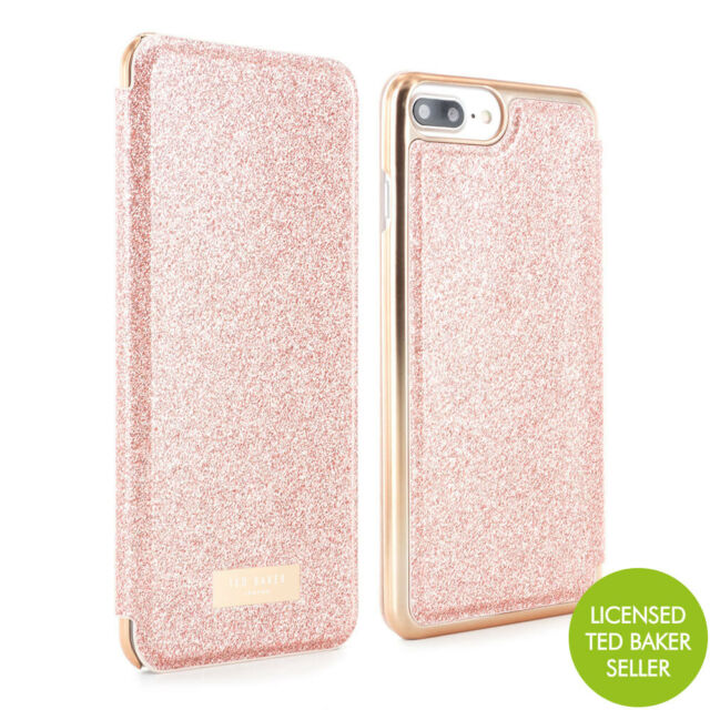 lowest price 6f2fa ce32a Ted Baker SPRITSIE Mirror SS17 Folio Flip Case for iPhone 8 Plus/7 Plus -  Rose Gold