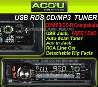 Sub Zero ICE Car CD MP3 USB SD Card RDS Radio Tuner Aux In Head Unit Player+Free