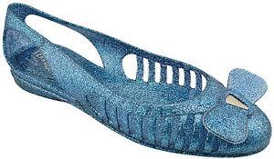 285-SALVATORE-FERRAGAMO-bleu-paillettes-Spiffy-Summer-Femme-Chaussures-Flats