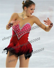 Ice skating dress.New Red Competition Figure Skating /Baton Twirling Costume
