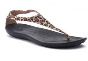 tanio na sprzedaż informacje o wersji na szczegóły dla Details about Crocs Sexi Wild Flip Womens Zebra Black/White or Leopard -  SALE!