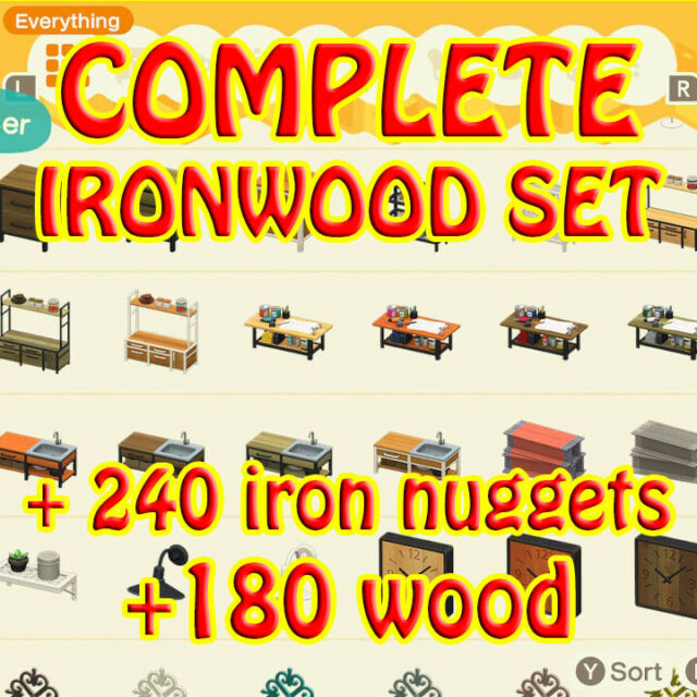All Ironwood DIY and Cutting Board+Gifts(Online) | eBay on Ironwood Furniture Animal Crossing  id=58288