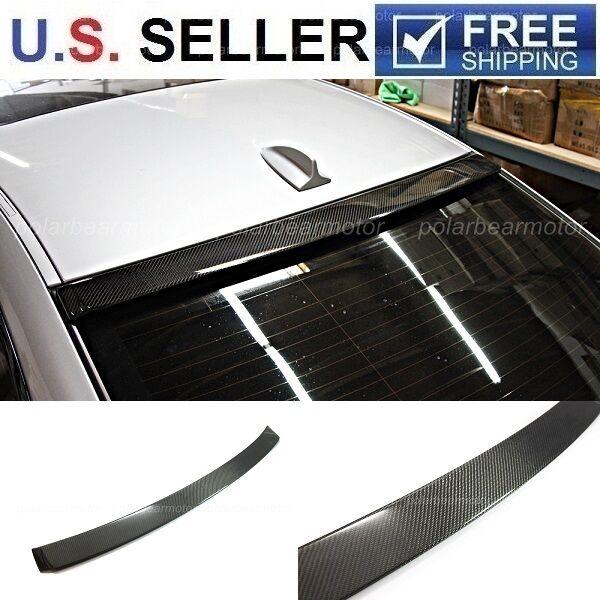 2007-2013 BMW E92 3 Series 2 Dr Coupe Carbon Fiber Roof Spoiler Lip 328i 335i M3