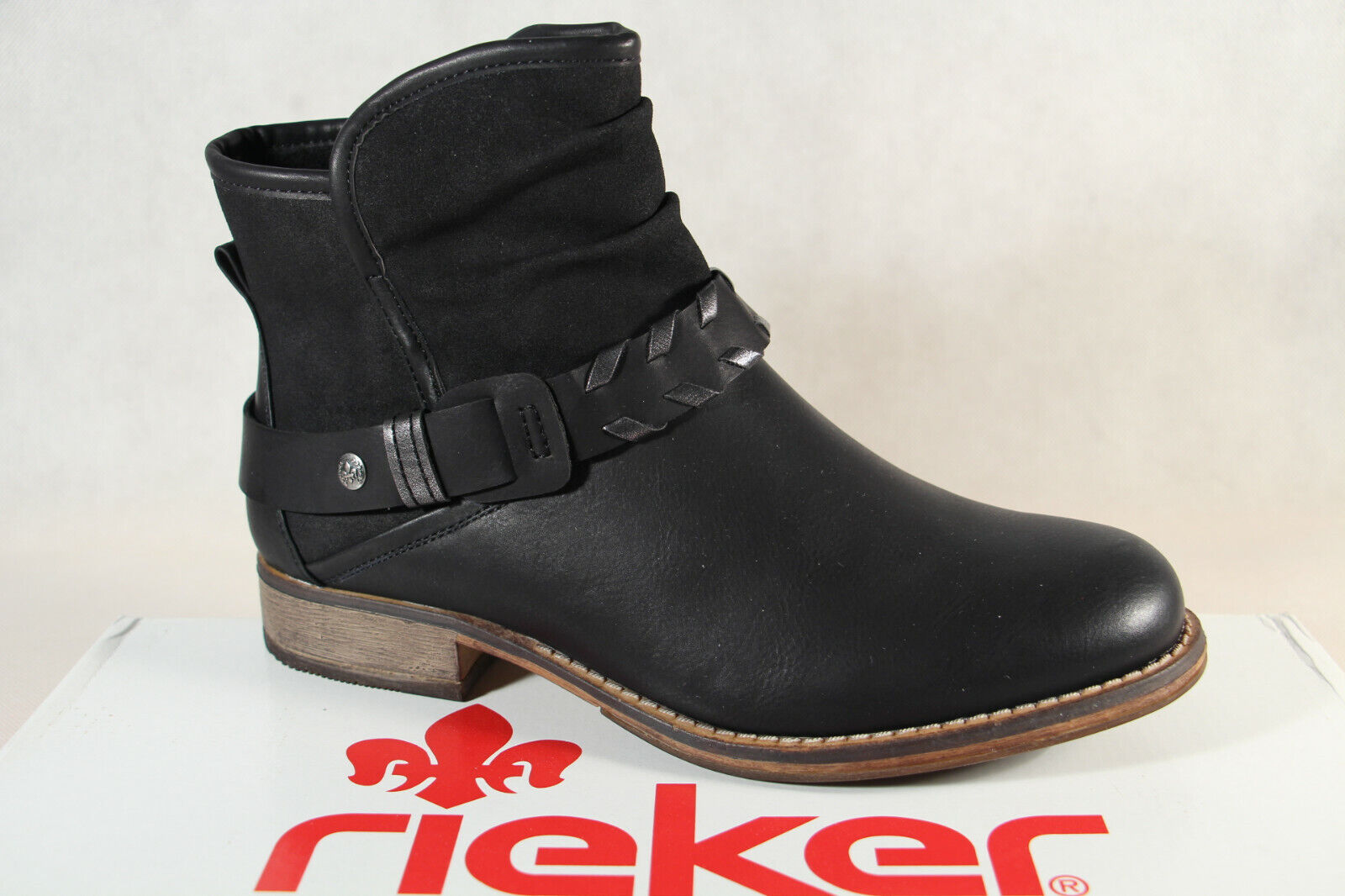Rieker Damen Stiefel 97770 Stiefelette Stiefel schwarz RV NEU