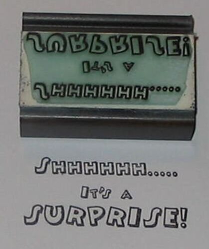 Shhhh.. It/'s a Surprise rubber stamp by Amazing Arts