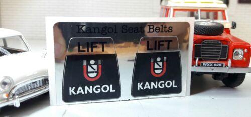 Kangol Lift Type Seatbelt Seat Belt Clasp Buckle Decal Sticker Classic LandRover
