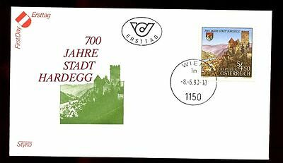 Europe Systematic Austria 1990 Hardeggs Elevation To Status Of Town Fdc #c2993 A Complete Range Of Specifications