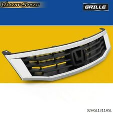 Fit For 2008 2010 Honda Accord Sedan 4dr Chrome Front Hood Bumper Grill Grille Fits 2008 Honda Accord