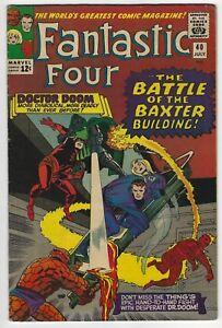 Fantastic Four #40 Silver Age Marvel Comic Book 6.5 FN+ Doctor Doom Daredevil