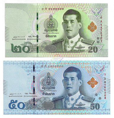 ND//2018 - Kings Rama I Thailand 20 Baht II and X p135b UNC