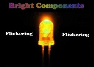 5-x-Yellow-Flickering-LED-5mm-Candle-Flicker-Effect-UK-1st-CLASS-POST