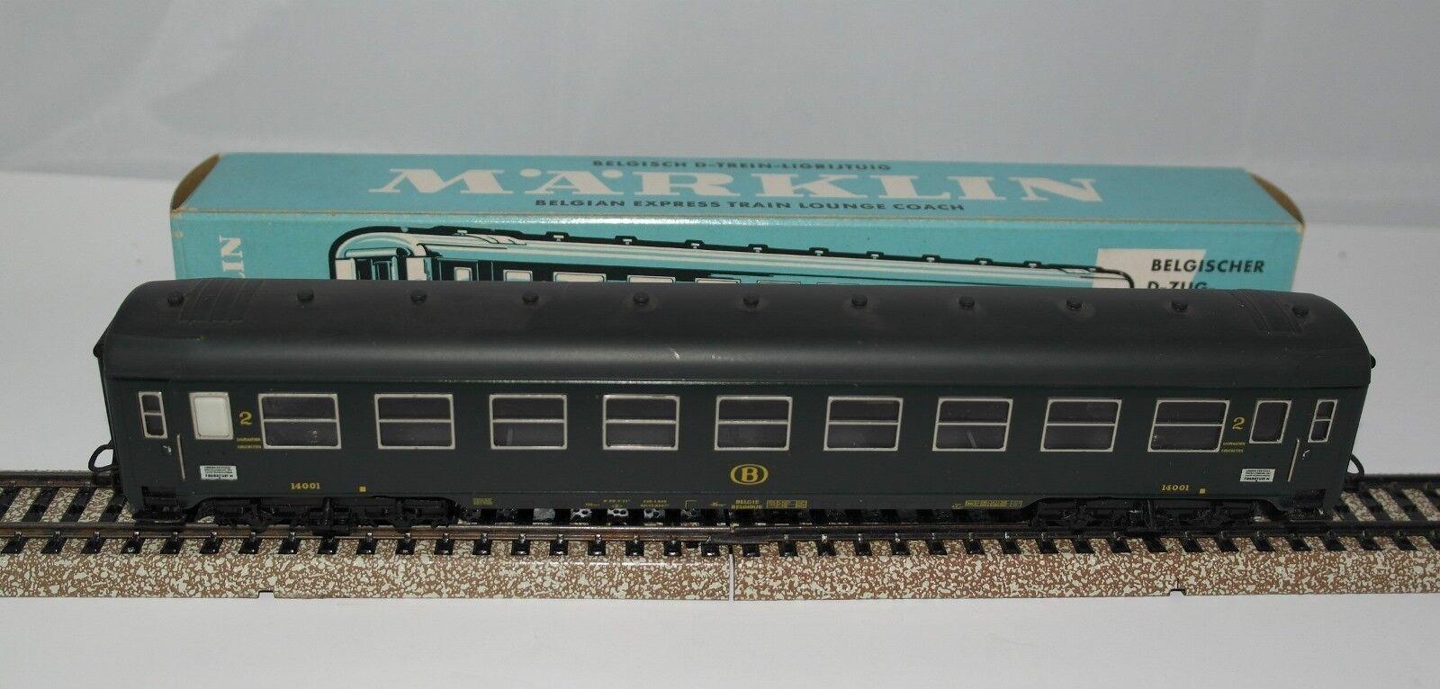 MÄRKLIN MARKLIN H0   4069 vettura passeggeri SNCB ottime condizioni   1968 +++++