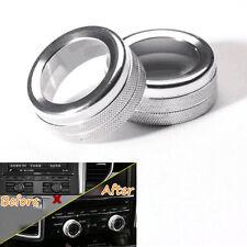 Aluminum Silver Volume Tune Whirling Button Decor Trim Ring For Porsche Cayenne