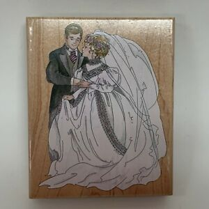 Stamps-Happen-Rubber-Stamp-Bride-and-Groom-Wedding-90038-5-3-8-034-x-4-3-8-034