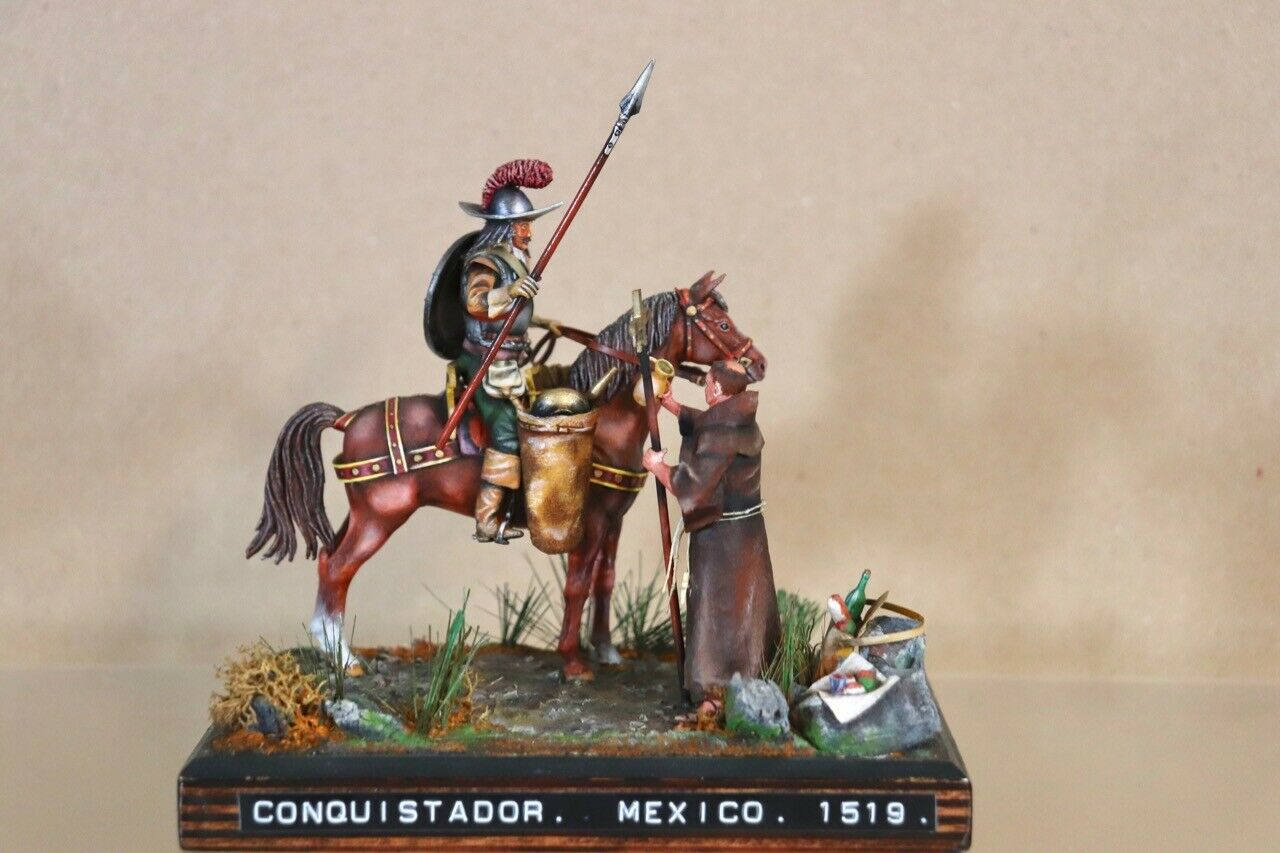 Historex Halterung Spanische Conquistador & Priester Mexico 1519 Museum Nv