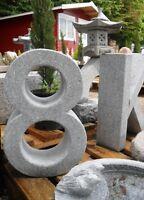 Hausnummer Und Buchstaben Aus Echtem Granit Stein