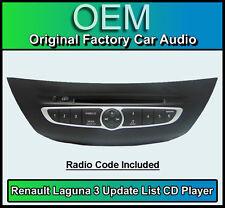 Renault Laguna 3 CD player, Renault Update List car stereo radio + Code