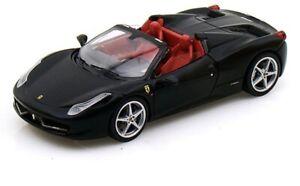 HOT-WHEELS-1-43-FERRARI-458-Spider-in-Nero-Nuovo-di-Zecca-ufficialmente-dalla-Ferrari