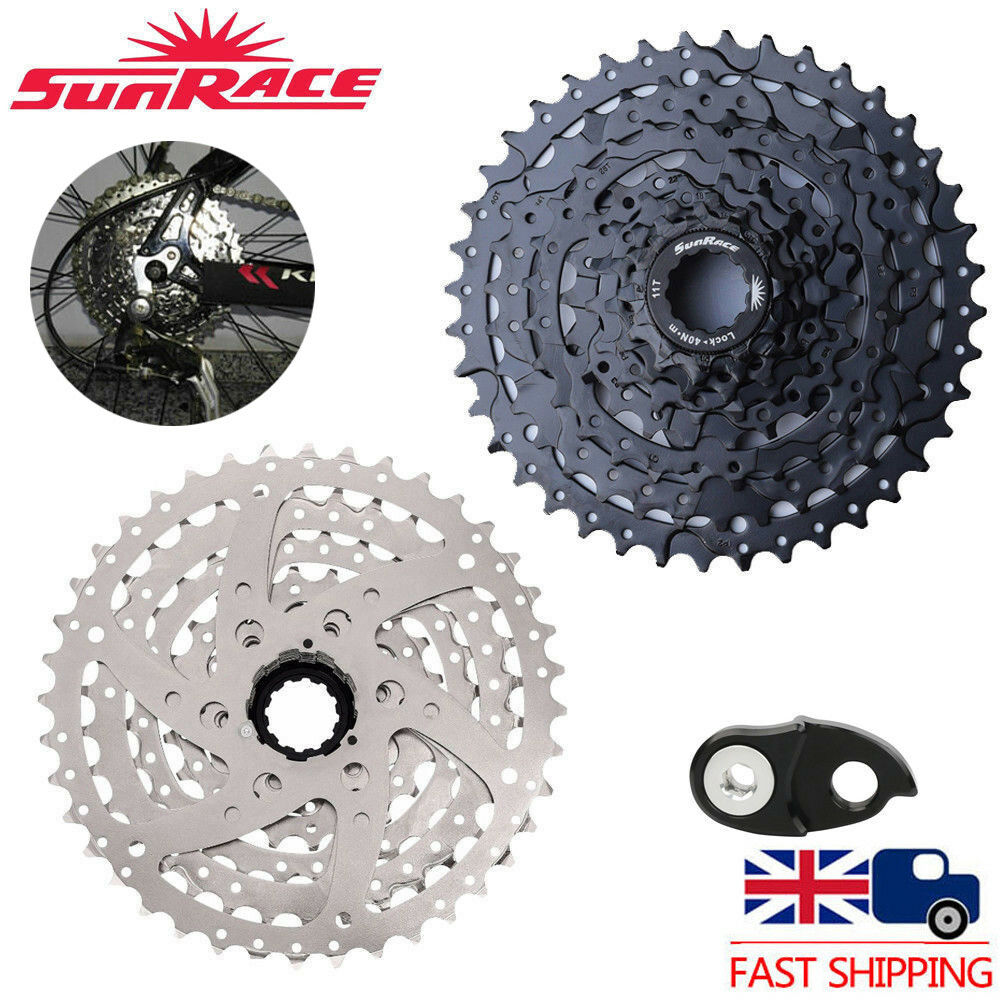 UK SunRace 8 Speed 11-40T MTB Bike Cassette fit SHIMANO SRAM Freewheel Adapter