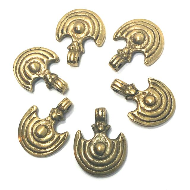 Brass Axe Charms Naga Tribal Ethnic Jewelry Designing Findings 6 pcs CHB03
